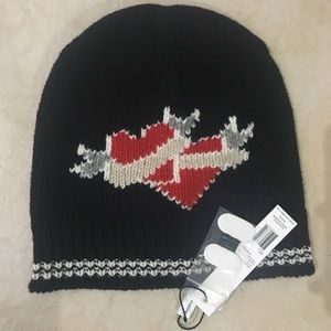 Marc Jacobs Red Heart Beanie